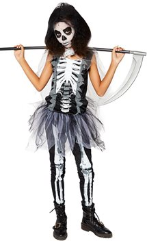 Girls Skeleton Reaper - Child and Teen Costume