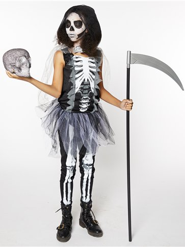 Girls Skeleton Reaper - Child and Teen Costume left