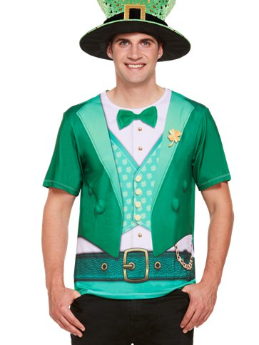 Lucky Irish T-Shirt - Adult Costume front