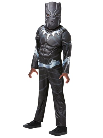 Black Panther Deluxe Muscle Chest - Child Costume front