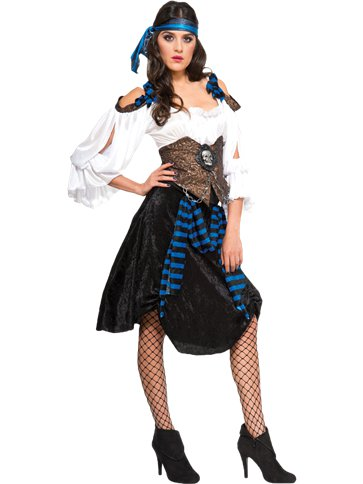 Rum Runner Pirate Lady - Adult Costume front