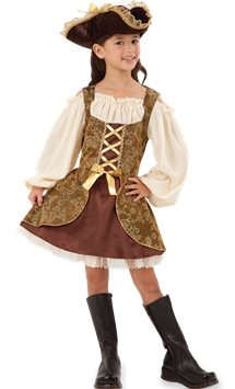 Golden Pirates Dress - Child Costume