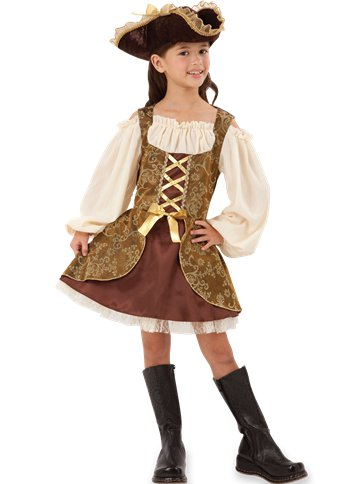 Golden Pirates Dress - Child Costume front