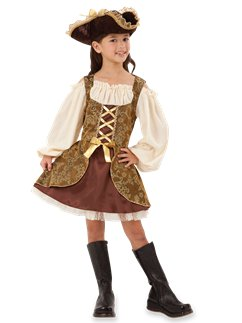 Golden Pirates Dress  sc 1 st  Party Delights & Girlsu0027 Pirate Costumes | !!! | Party Delights