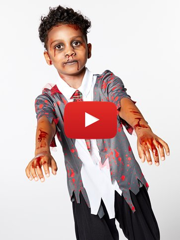 Zombie School Boy Child Costume Party Delights