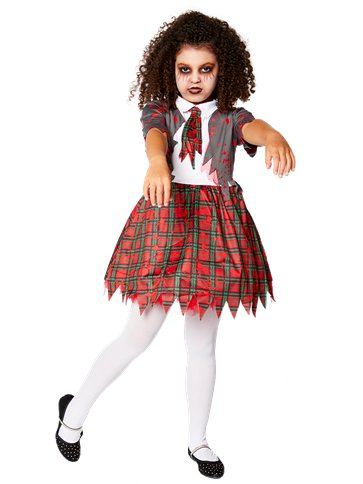 Zombie School Girl - Child Costume front