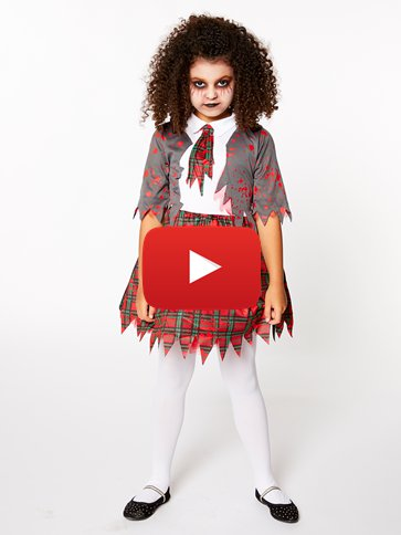 Zombie School Girl - Child Costume video