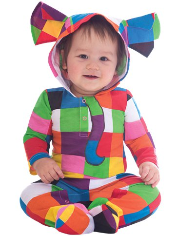 Elmer the Patchwork Elephant - Baby & Toddler Costume front