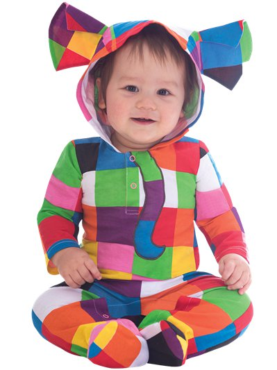 Elmer the Patchwork Elephant - Baby Costume