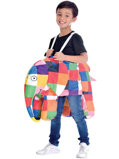 Elmer the Patchwork Elephant Ride On - Child Costume