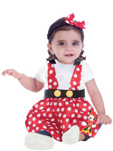 Minnie Mouse Pinafore - Baby Costume front