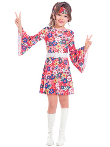 Miss 60's Hippie - Child Costume front