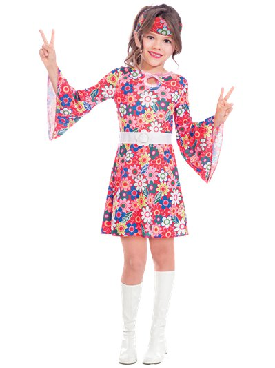 Miss 60's Hippie - Child Costume
