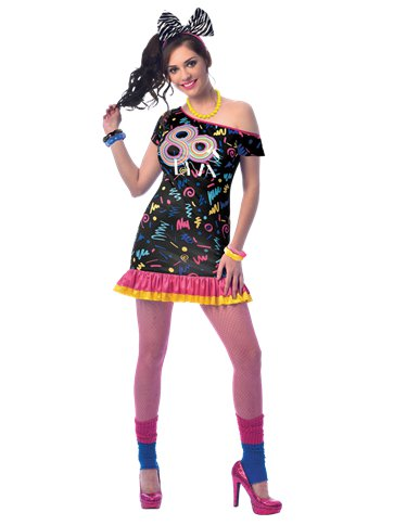 80s Girl - Adult Costume front