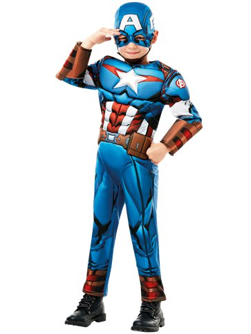 Captain America Deluxe - Child Costume front