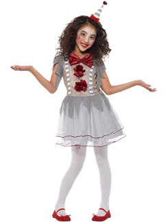 Halloween Kids Costumes Girls.Scary Halloween Clown Costumes Party Delights