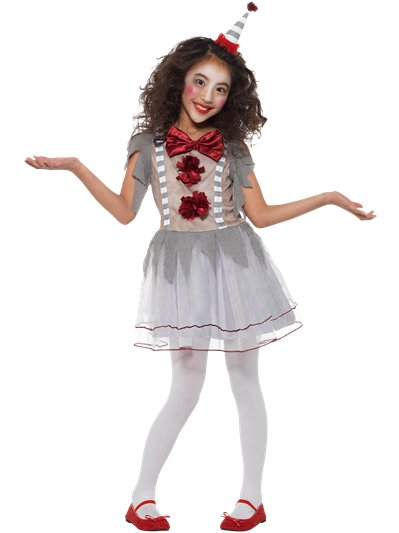 Vintage Clown Girl - Child Costume