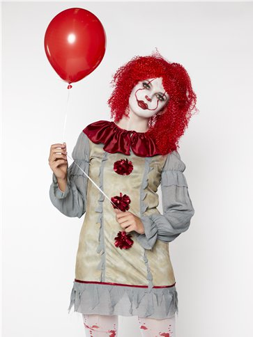 Vintage Clown Lady - Adult Costume back