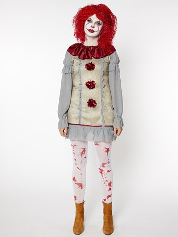 Vintage Clown Lady - Adult Costume front