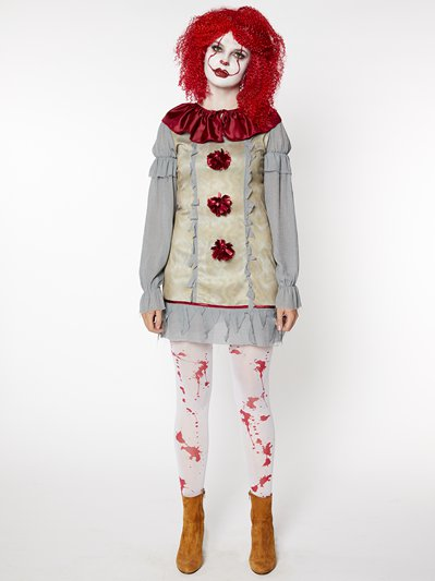 Vintage Clown Lady - Adult Costume