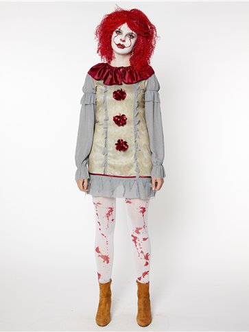 Vintage Clown Lady - Adult Costume pla