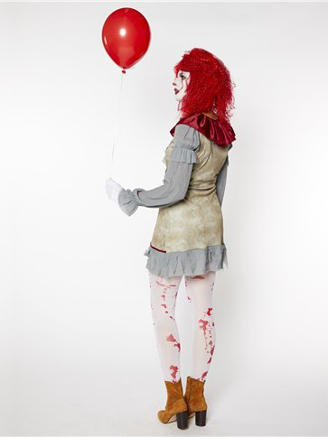 Vintage Clown Lady - Adult Costume right