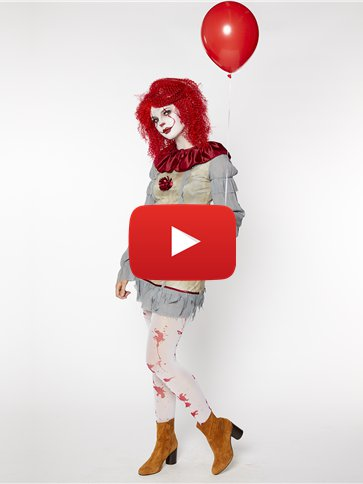 Vintage Clown Lady - Adult Costume video