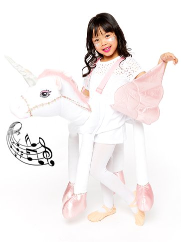Ride On Light & Sound Unicorn - Child Costume front