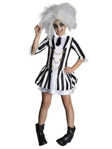 Beetlejuice Girl Child Costume Party Delights