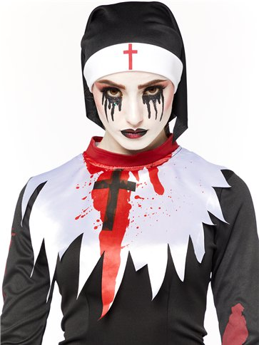Deadly Nun - Adult Costume back