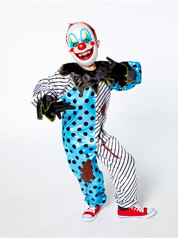 Scary Clown with Mask - Child Costume back