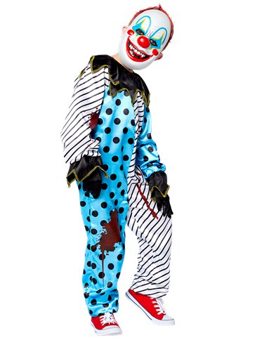 Scary Clown with Mask - Child Costume front