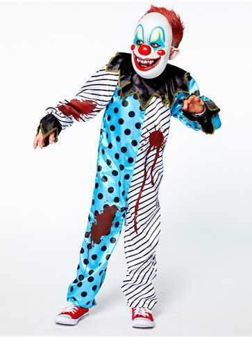 Scary Clown with Mask - Child Costume left