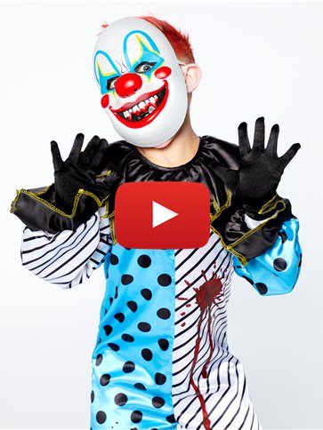 Scary Clown with Mask - Child Costume video