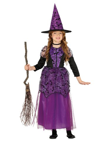 Purple Witch - Child Costume front