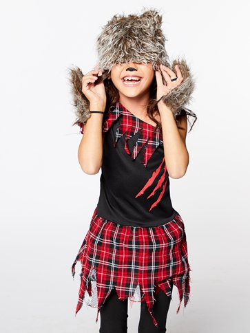 Werewolf Girl - Child Costume back