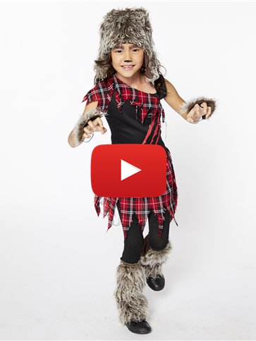Werewolf Girl - Child Costume video