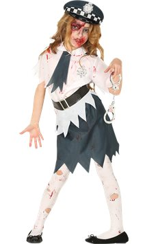 Zombie Police Girl - Child Costume