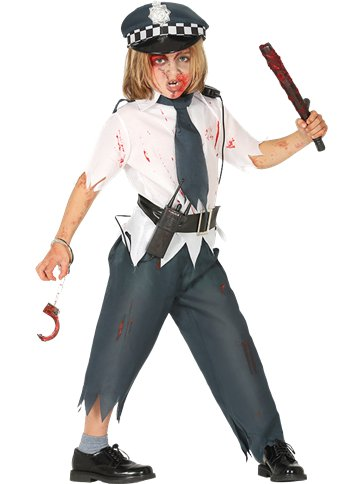 Zombie Police Boy - Child Costume front