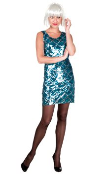 Blue Dazzle Dress - Adult Costume