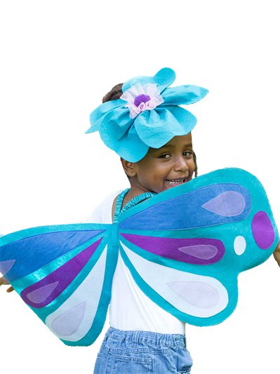 Blue Butterfly Wings & Headband - Child Costume