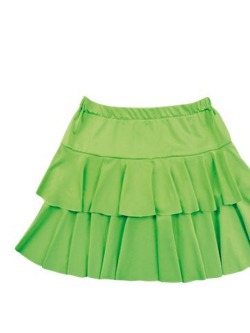 Neon Green Ruffled Mini Skirt - Adult Costumes left