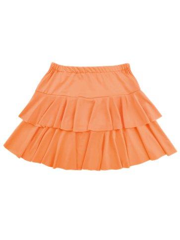 Neon Orange Ruffled Mini Skirt Adult Costume Party