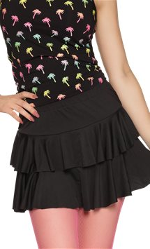 Black Ruffled Mini Skirt - Adult Costume