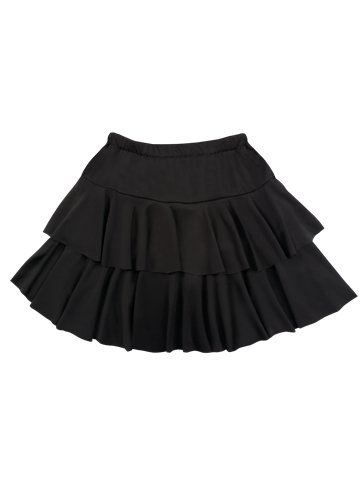 Black Ruffled Mini Skirt - Adult Costume left