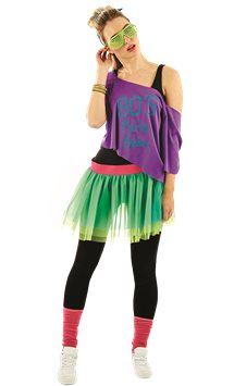 80's Print Tutu Kit - Adult Costume