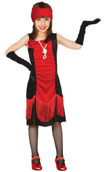 Charleston Red Flapper Dress - Child Costume