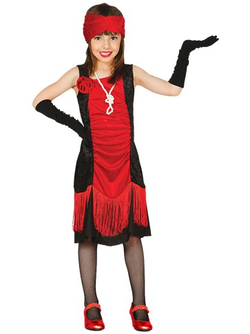 Charleston Red Flapper Dress - Child Costume front