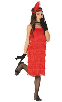 Red Flapper Dress - Child Costume