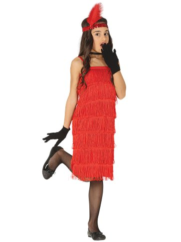 Red Flapper Dress - Child Costume front
